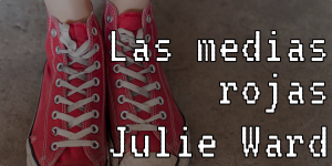 "Red shoes with Twine Game title ""Las medias rojas"" overlaid"