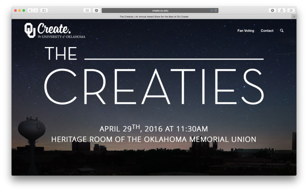 Preview of the Creaties website.