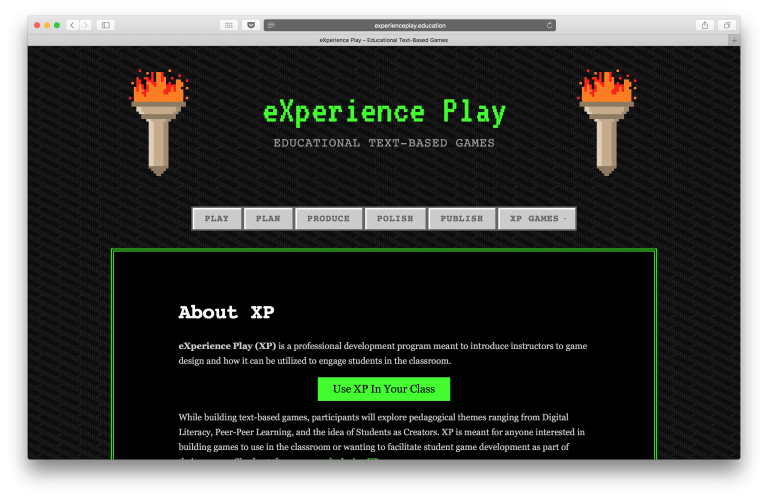 eXperience Play website with new experienceplay.education domain.