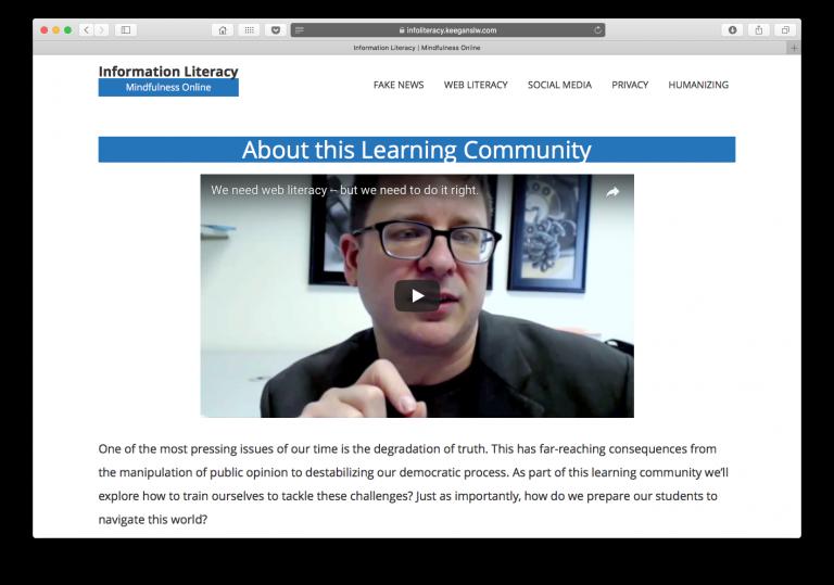 Screenshot of https://infoliteracy.keeganslw.com