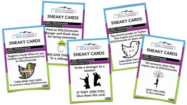 5 Sneaky Cards from the game made for OLC Innovate 2019.